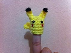 Ravelry: Finger-Poke-Puppets - Pikachu! pattern by Amanda L. Girão