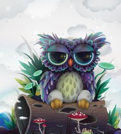 Owl character for CA Projects by ☆ - ☆ zutto, via Flickr: