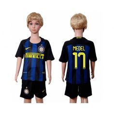 Inter Milan Trøje Børn 16-17 #Medel 17 Hjemmebanetrøje Kort ærmer,199,62KR,shirtshopservice@gmail.com
