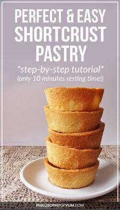 This is my goto recipe for shortcrust pastry It's super quick and in a few moments you have a crisp, golden, buttery piece of heaven! Easy Pastry Recipes, Pie Crust Recipes, Tart Recipes, Sweet Recipes, Baking Recipes, Dessert Recipes, Easy Shortcrust Pastry Recipes, Pie Crusts, Pastry Dough Recipe