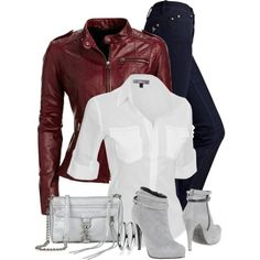 Leather Jacket, created by wishlist123 on Polyvore