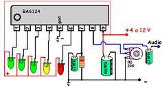 dibujo de indicador de sonido con leds