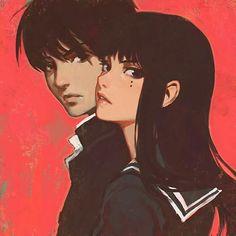 Will you recognize all of Ilya Kuvshinov& fan art characters? Cartoon Kunst, Anime Kunst, Cartoon Art, Cartoon Drawings, Cartoon Faces, Art Manga, Anime Manga, Anime Art, Aesthetic Art