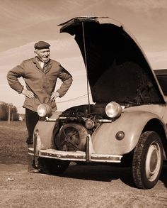 "The farmer and his Citroën 2cv.. ""Classic expression"""
