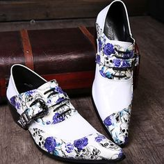 Find More Men's Casual Shoes Information about Luxury Brand Style Head Layer Cowhide Wedding Fashion Skull Increased Pointed Hair Stylist Genuine Leather High Heels Shoes,High Quality leather shoes for men,China leather soccer shoes Suppliers, Cheap leather grip from World famous brand discount store on Aliexpress.com