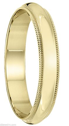 3mm S6-6.75 10K Yellow Gold Milgrain Women's Wedding Band Ring 1mmThick ENGRAVIN