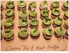 Green Tea and Mint Muffins
