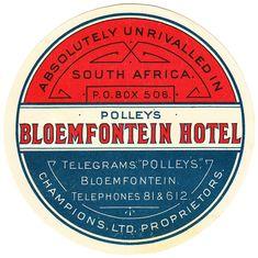 Sud Africa - Bloemfontein - Polley's Hotel