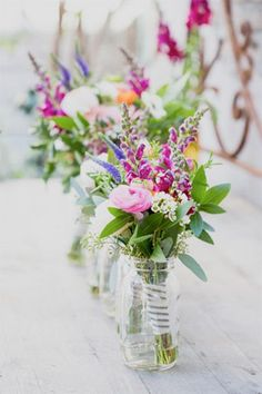 full coloured wildflower centrepieces - brides of adelaide