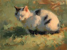 Cat Nap by Linda Volrath Oil ~ 6 x 8 Aesthetic Painting, Aesthetic Art, Art Sketches, Art Drawings, Arte Indie, Arte Sketchbook, Classical Art, Renaissance Art, Pretty Art