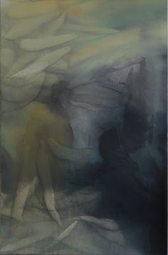 Marvin Aillaud - Silhouettes fragmentées #2 - 2014 - Huile sur toile - 60 x 92 cm #lamicrogalerie #marvinaillaud #peinture #artcontemporain