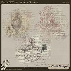 Pieces Of Time - Accent Clusters :: Empherals & Clusters :: Embellishments :: SCRAPBOOK-BYTES