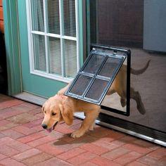 Turn your existing standard screen door into a puppy door!