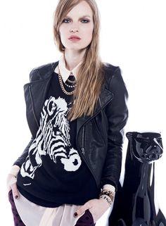 BASEMENT Sweaters Animal Pattern Cool Sweaters, Cravings, Basement, Leather Jacket, Animal, Pattern, Jackets, Fashion, Style