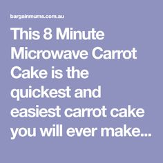 This 8 Minute Microwave Carrot Cake is the quickest and easiest carrot cake you will ever make, and is topped with a delicious cream cheese icing. Cream Cheese Icing, Cinnamon Cream Cheeses, Carrot Cake Ingredients, Microwave Cake, Easy Carrot Cake, How To Make Icing, Cooling Racks, Cake Mixture, Cake Pans