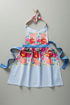See this Jackie Diedam Dahlia Apron from Anthropologie. Dahlia, Easy Like Sunday Morning, Sewing Aprons, Exposed Wood, Kitchen Collection, Mom Birthday Gift, Gifts For Mom, Sewing Projects, Sewing Hacks