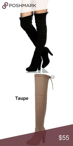 """Suede Over The Knee Boots - Black New with box 