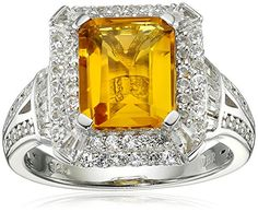 Sterling Silver Created Sapphire and Citrine Ring Size 7 -- For more information, visit image link. (This is an affiliate link) Citrine Ring, Ankle Bracelets, Diamond Jewelry, Topaz, Sapphire, Image Link, Engagement Rings, Sterling Silver, Amazon