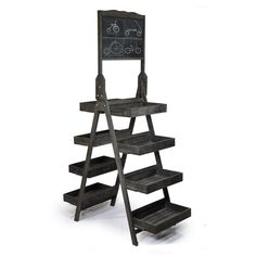 Display Tower with Chalkboard - Double Sided $100 ...or DIY with an old ladder boxes? maybe? Would be nice if it could fold up and fit in my car.