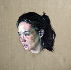 "Simon Birch; Oil, 2012, Painting ""Cinder"""