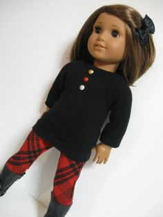 American Girl Doll  Gold Stars dress/Tights by 123MULBERRYSTREET,