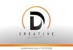 D Letter Logo Design with Black Orange Color. Letter Logo, Letter D, Initials Logo, Monogram Logo, Dd Logo, Carta Logo, Luxury Logo Design, Typography Logo, Creative Logo