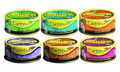 Earthborn Grain-Free 5.5 Oz Canned Cat Food Mixed 24 Cans with 6 Flavors - Chicken Catcciatori, Monterey Medley, Catalina Catch, Chicken Fricatssee, Chicken Jumble with Liver, Harbor Harvest -- Want additional info? Click on the image.