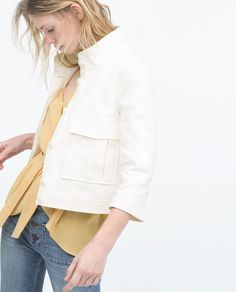 Image 4 of JACKET WITH LARGE PATCH POCKETS from Zara