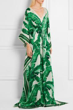 Dolce & Gabbana | Printed silk-chiffon gown | NET-A-PORTER.COM