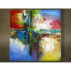 Handgeschilderd schilderij Abstract 1 delig 5993FA