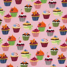 Tecido Cupcake Robert Kaufman