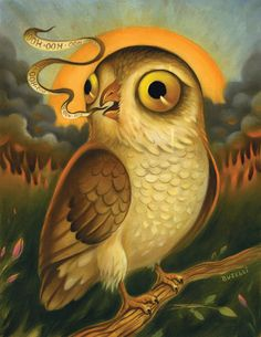 Surreal Owl Painting
