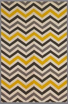 Yellow zig zag pattern