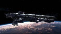 Paladin Battleship by Vatalus (http://newevolutiondesigns.com/incredible-starship-designs-by-vattalus)