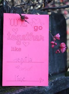 We go together like free printable