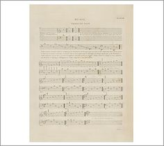 I want to do a accent wall with 6 separate framed pages of vintage sheet music in the music room.  Music Sheet Thorough Plate 3 Framed Print #potterybarn