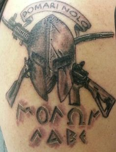... images about milit... Usmc Crossed Rifles Tattoo