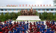 함북도 북부피해지역의 학생소년들 송도원국제소년단야영소에서 즐거운 야영 시작