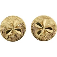 ll➤ Discover luxury pre-owned CHANEL earrings for Women, Luxury and Fashion Designer Earrings at hand! Vintage Chanel Earrings, Gold Earrings, Gold Jewelry, Women Jewelry, Jewellery, Line Texture, Gold Style, Italian Style, Fast Fashion