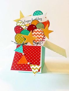 Horray it's Your Day Pop Up Box by Risa - Cards and Paper Crafts at Splitcoaststampers