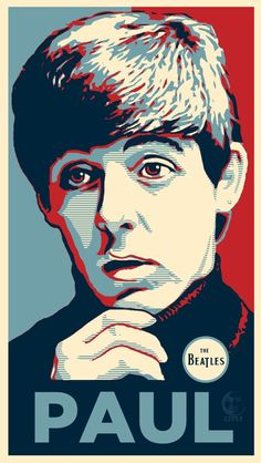 Paul McCartney PopArt The Beatles Glossy Art Print Inches Beatles Poster, Beatles Art, The Fab Four, Arte Pop, Cool Bands, Album Covers, Liverpool, My Idol, Rock And Roll
