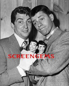 Dean Martin Jerry Lewis great photo with hand puppets 1950s comedy team RARE | eBay