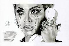 Beyonce by *EmilyHitchcock on deviantART Beyonce Drawing, Powerful Women, All Art, Rihanna, Black Women, My Arts, Artsy, Deviantart, Drawings