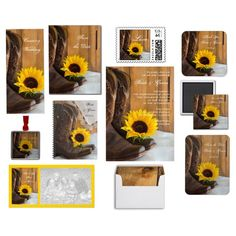 """""""Country Sunflower Wedding"""" by loraseverson on Polyvore #sunflowers #rustic #shabbychic #wedding"""