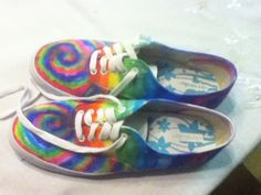 17520e3d06dd Diy Tie Dye Shoes With Sharpies And Rubbing Alcohol