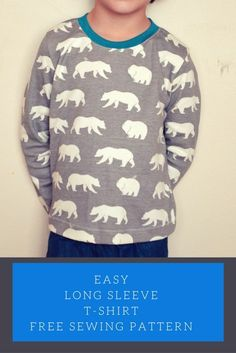 Easy Long Sleeve T-Shirt - FREE pattern, size 3T only