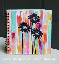Some fiddling on the kitchen table: Faux Distressed Wood Kitchen Table Makeover, Simple Acrylic Paintings, Handmade Books, How To Distress Wood, Stencils, Card Making, Distressed Wood, Art Journaling, Stamping