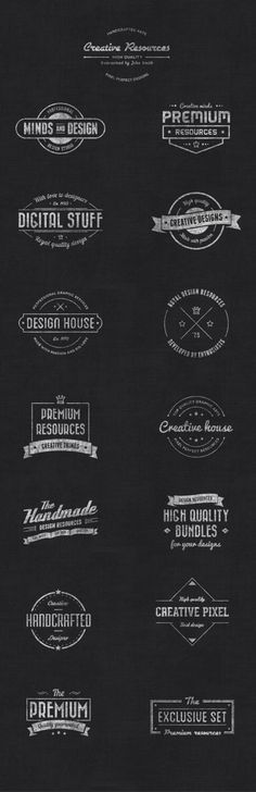 Vintage Chalkboard Badge Vector Logos by VandelayDesign on Etsy https://www.etsy.com/listing/202200843/vintage-chalkboard-badge-vector-logos