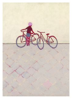 Bike Ride print by Jennifer Davis
