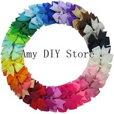 Free Shipping 40pcs 40Colors Baby Girl Hair Ribbon bow Boutique Pinwheel Bows WITH Alligator Clips For Children kids Babies Teen